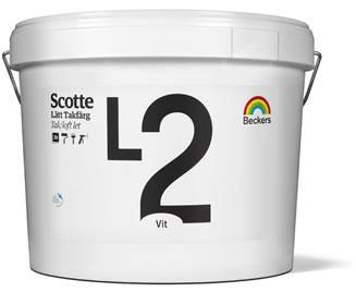 Beckers Loftmaling Glans 2 - L2 glans 2.       10 liter