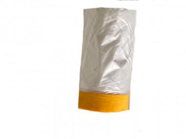 Plastikafdækning med tape