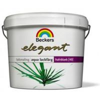 Beckers Elegant Aqua lakfarve glans 40.  2,7 liter  Efterårts tilbud