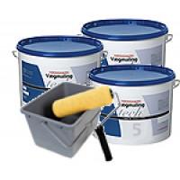 Malerkompagniets tech - 3 x 10 Liter Vægmaling Glans 5 - incl. Rullespand og Rulle