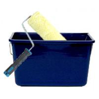 Luksus malerrulle (25 cm) med sikkerhedsskaft + Rullespand